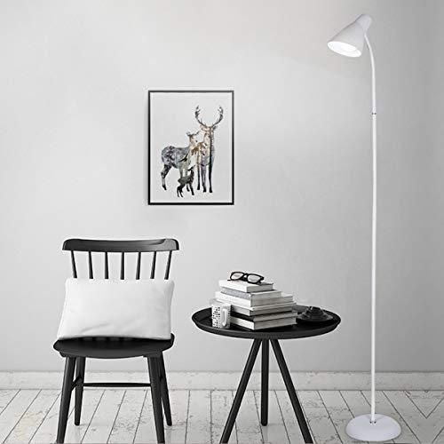 LAMPES À PLANCHER INTÉRIEUR ZXC YWXLight Metal Simple LED Lampadaire (Couleur : Blanc)