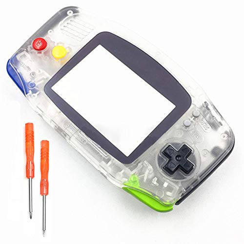 Ersatz-Gehäuse für Nintendo Gameboy Advance GBA Konsole, transparent