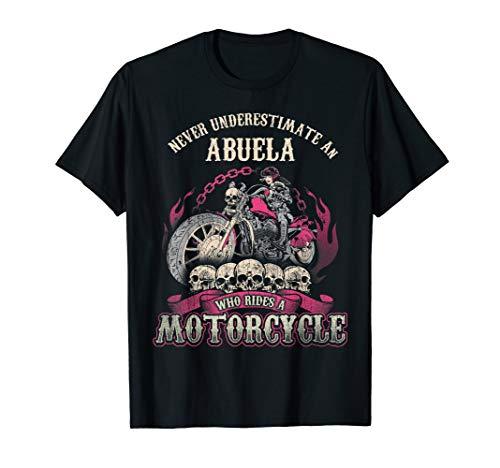 Abuela Biker Chick Lady Motorrad nie unterschätzen T-Shirt -