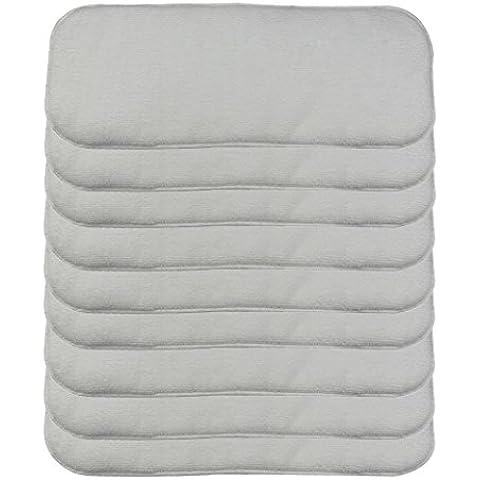HAPPY CHERRY Baby pannolini lavabile riutilizzabili Baby pannolino in microfibra Set pannolino inserti Baby-Panno stoffa morbida 3 bianco mandato - pezzi a scelta