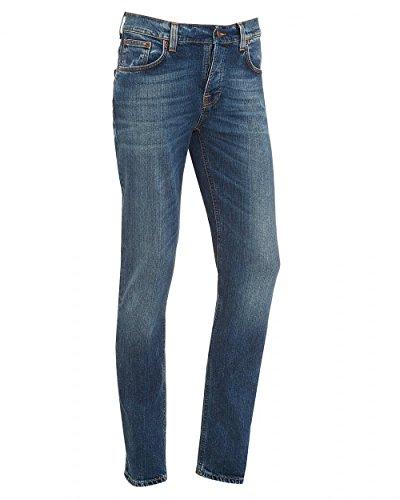 Nudie Jeans Grim Tim, Jeans Homme SHADED BLUE