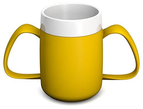 Ornamin 2-Henkel-Becher mit Trink-Trick 140 ml gelb (Modell 815) / Spezial-Trinkhilfe, Tremor-Becher