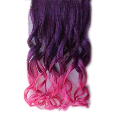 Meisijia Hoher Heller Haarteil-gerader Klipp in der Haar-Verlängerungs-Perücke -