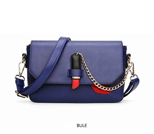 MEI Piccolo Pacchetto Quadrato Rossetto Stampa Borsa A Tracolla Ms. Messenger Bag Blue
