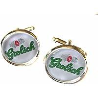 Grolsch Lager Logo Chrome Cufflinks