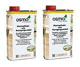 OSMO Spar-Set Set Wachspflege- und Reinigungsmittel 1000 ml weiß Pflege 2x 1000 ml by Geizhaus24