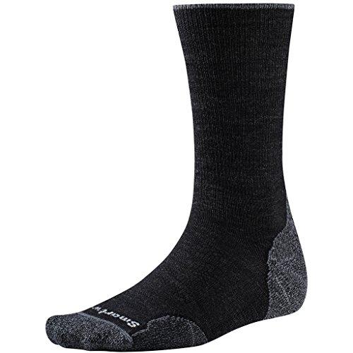 Smartwool Herren PhD Outdoor Light Crew Socken, Charcoal, M