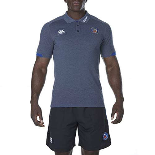 2017-2018 Bath Rugby Cotton Pique Polo Shirt (Nine Iron) (Pique Short Sleeve Rugby)
