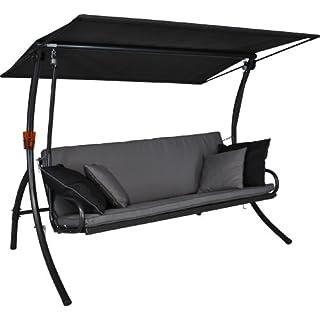 Angerer 441000/136/21 Elegance Style Hollywoodschaukel Style, Grau, 3-Sitzer