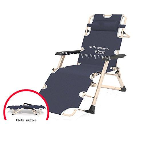 Amazing Lounge Chair Klappstuhl Sun Chair Mittagspause Bürostuhl Balkon Indoor Gartenstuhl ( Farbe : Grau )