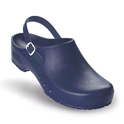 Chiroclogs Special OP-Schuhe, Unisex Blau mit Fersenriemen