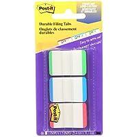 Post-it pestañas, sólido, 12pestañas pestañas por color, 36por dispensador, color Assorted Primary Lined 66 Tabs