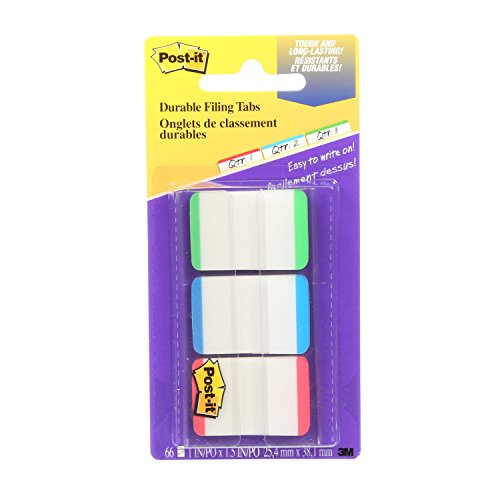 Post-it Taben, massiv, 12Taben Pro Farbe, 36Tabs pro Spender 66 Tabs Assorted Primary Lined (Jungle Assorted)