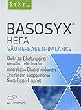 SYXYL Basosyx Hepa Tabletten / Nahrungsergänzungsmittel mit Cholin zur Erhaltung einer normalen Leberfunktion & Zink für den Säure-Basen-Haushalt / 60 Tabletten im Blister