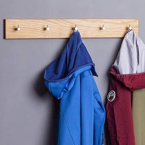 Woods Hakenleiste Garderobe Holz massiv I Garderobenleiste Landhaus I moderne Wandgarderobe aus Holzhandgefertigt in Bayern I Handtuchhalter I Garderobenpaneel Nussbaum o. Eiche verschiedene Längen