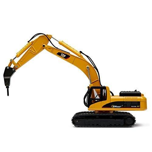 RC Auto kaufen Baufahrzeug Bild: Top Race Metalldruckgussbagger Drill Traktor, Bau Spielzeugschlepper - Metallbohrer (TR-218D)*