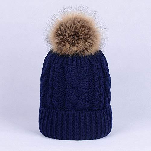 Huichao Chapeaux d'automne et d'hiver pour Hommes et Femmes, Chapeaux en Tricot Double,Cyan