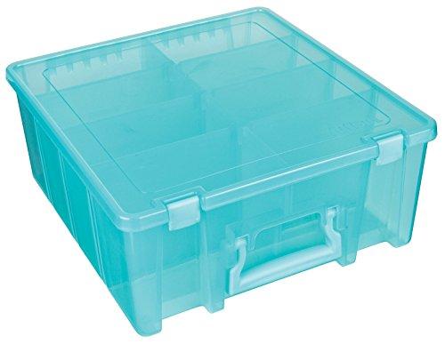 Artbin 6990Ab compartimentos Caja de almacenamiento con separadores extraíbles, acabado translúcido