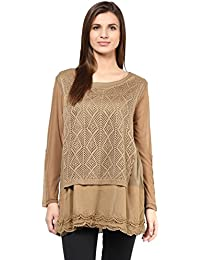 Remanika Brown color Knitted Top for womens