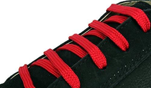 """XeeBest Damen Schnürsenkel Sneakers Streicher - Sport Schuhe Stiefel Skates Schnürsenkel rot dunkel 2 Schnürsenkel enthalten jeweils 48""""= 5-6 Löcher"""