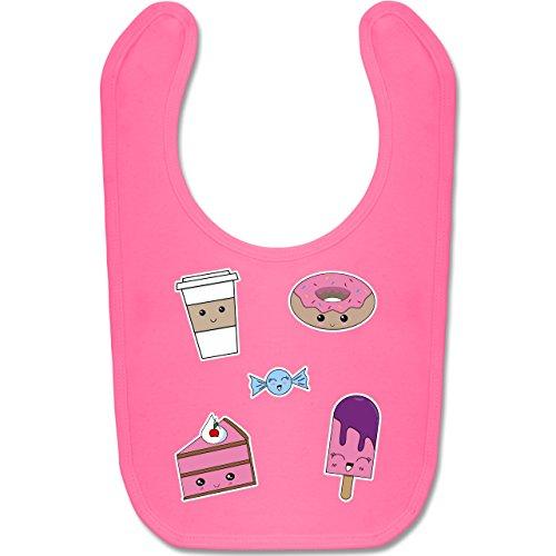 Shirtracer Up to Date Baby - Kawaii Sweets - Unisize - Pink - BZ12 - Baby Lätzchen Baumwolle