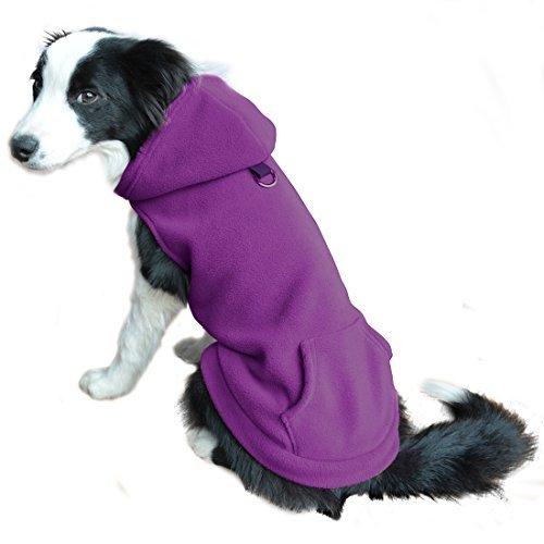 EXPAWLORER Fleece Hund Hoodies mit Tasche, kaltem Wetter Spring Weste Sweatshirt mit O-Ring, XS, Violett (Chewbacca Kostüm Hund)