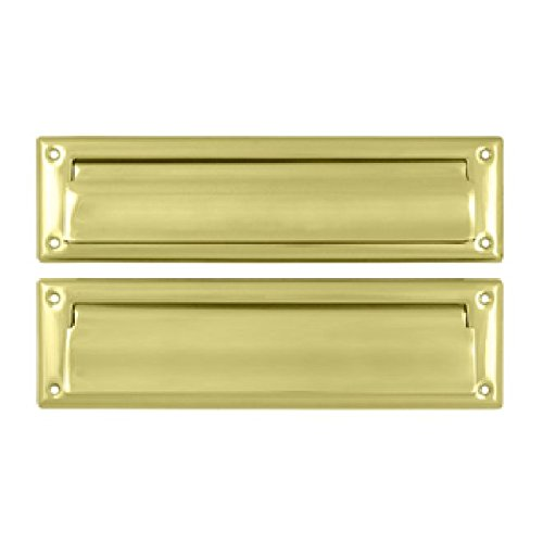 Deltana MS212U3 13 1/8-Inch Mail Slot with Solid Brass Interior Flap by Deltana
