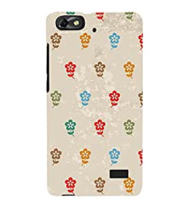 Multicolor Flowers 3D Hard Polycarbonate Designer Back Case Cover for Huawei Honor 4C :: Huawei G Play Mini