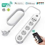 KinCam Multipresa Ciabatta Elettrica WiFi, Ciabatta Smart con 4 Prese e 3 USB, Supporta Controllo...