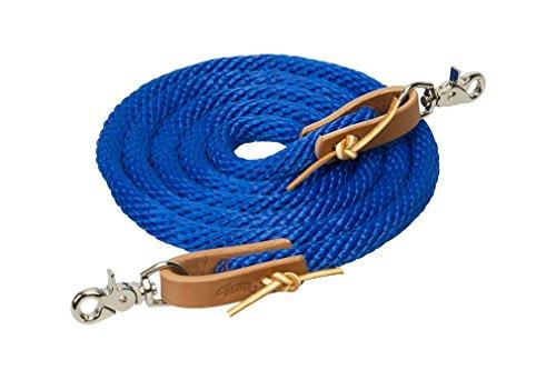Weaver Leder Poly Roper Zügel, blau