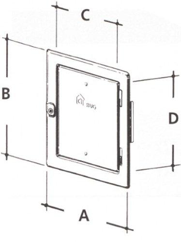 Kamintür mit Vierkantverschluss