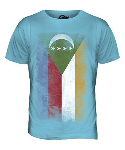 CandyMix Komoren Verblichen Flagge Herren T Shirt Himmelblau