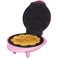 Global Gizmos Benross Waffle Maker, 1000 Watt, Fun Pink, non stick