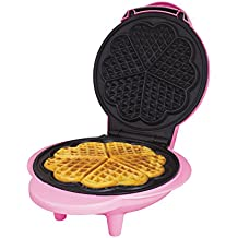 Global Gizmos 35570 Mini Waffle 1000W | Unique Thermostatic Design | Non-Stick Plates | Easy Clean Dessert Maker | 25cm x 22cm, 1000 W