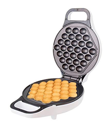 StarBlue Gofrera máquina de gofres con Forma de Huevo al Estilo de Hong Kong Blanca - Prepare los wafles de Huevo al Estilo de Hong Kong en 5 Minutos, Enchufe del Reino Unido