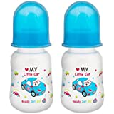 Mee Mee Premium Baby Feeding Bottle (Pack Of 2 - 125 Ml, Blue)
