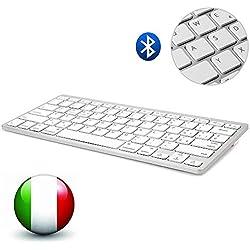 Dingrich Tastiera Bluetooth universale con layout Italiano (bianco)