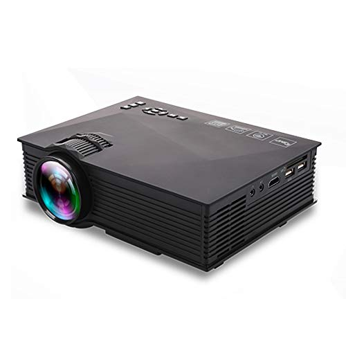 FANGSHUAI Projektor, 1200 Lumen HD 800 x 480 Digital-LED-Projektor, UC46 Projektor-Heim LED tragbare Mini-Pico Projektor