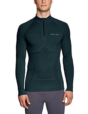 FALKE Men's Ski Underwear Athletic Long-Sleeved Ski Shirt With Zip