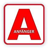 Lohofol Auto Magnetschild Anfänger | Schild magnetisch für Fahranfänger (15 x 15 cm)