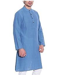 Royal Men's Cotton Blend Straigh Kurta