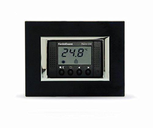 Fantini Cosmi C44 Termostato da incasso multiplacca con display, a 230Vca, nero