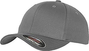 Flexfit 6277 Wooly Unisex Combed Cap, grey, S/M