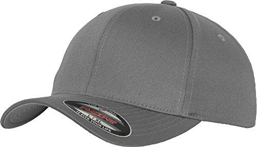 Flexfit 6277 Wooly Unisex Combed Cap, grey, L/XL
