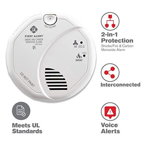 First Alert/Jarden SC7010BV Hardwired Talking Smoke And Carbon Monoxide Alarm by BRK Brands