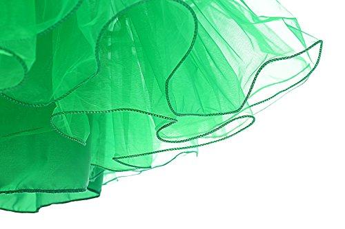 Dresstells 1950 Petticoat Reifrock Unterrock Petticoat Underskirt Crinoline für Rockabilly Kleid Green