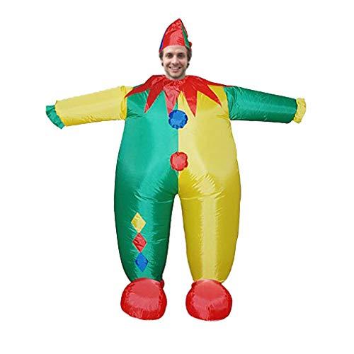 Lazzboy Karneval Erwachsene Cosplay-Clown-aufblasbare Kleidungs-Partei-Charakter-lustige (M,Mehrfarbig)