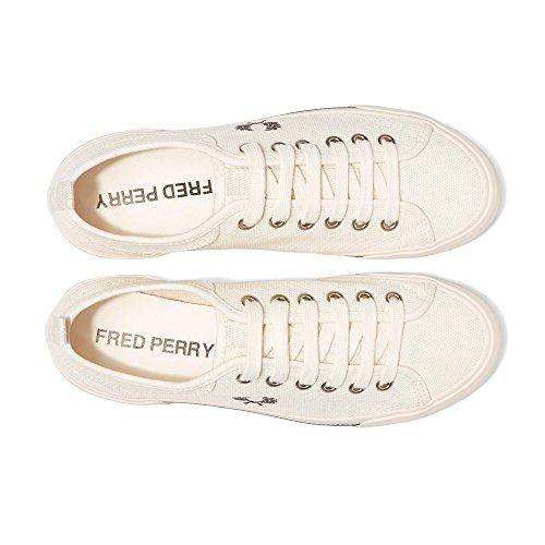 Fred Perry Horton Toile Blk Horton B3190 Noir et Blanc. Basket Mode Ecru Canvas