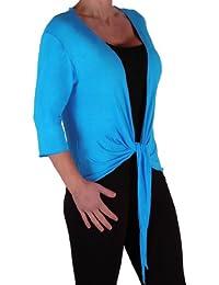 EyeCatch - Rivera Damen Mid Länge Bolero Cardigan Shrug Wrap Cardi Plus Größen 42 - 56