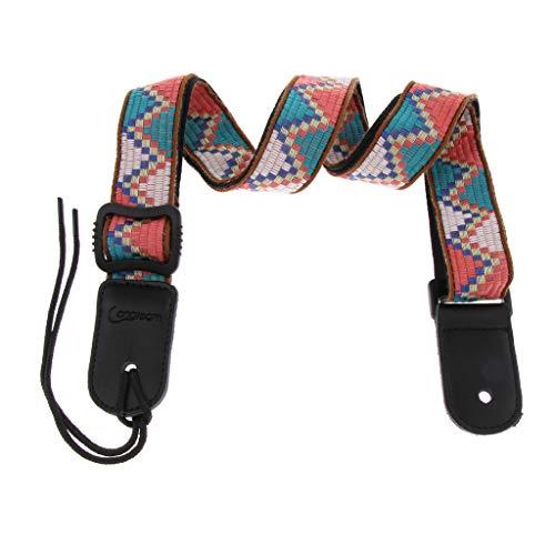 B Blesiya Einstellbarer Gitarrengurt Gürtel Für Akustische E-Gitarre Bass Farbewahl - Mehrfarbig C